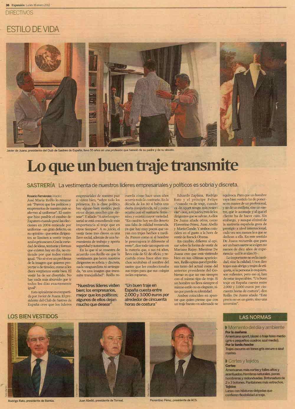 Reportaje Expansión - Javier de Juana
