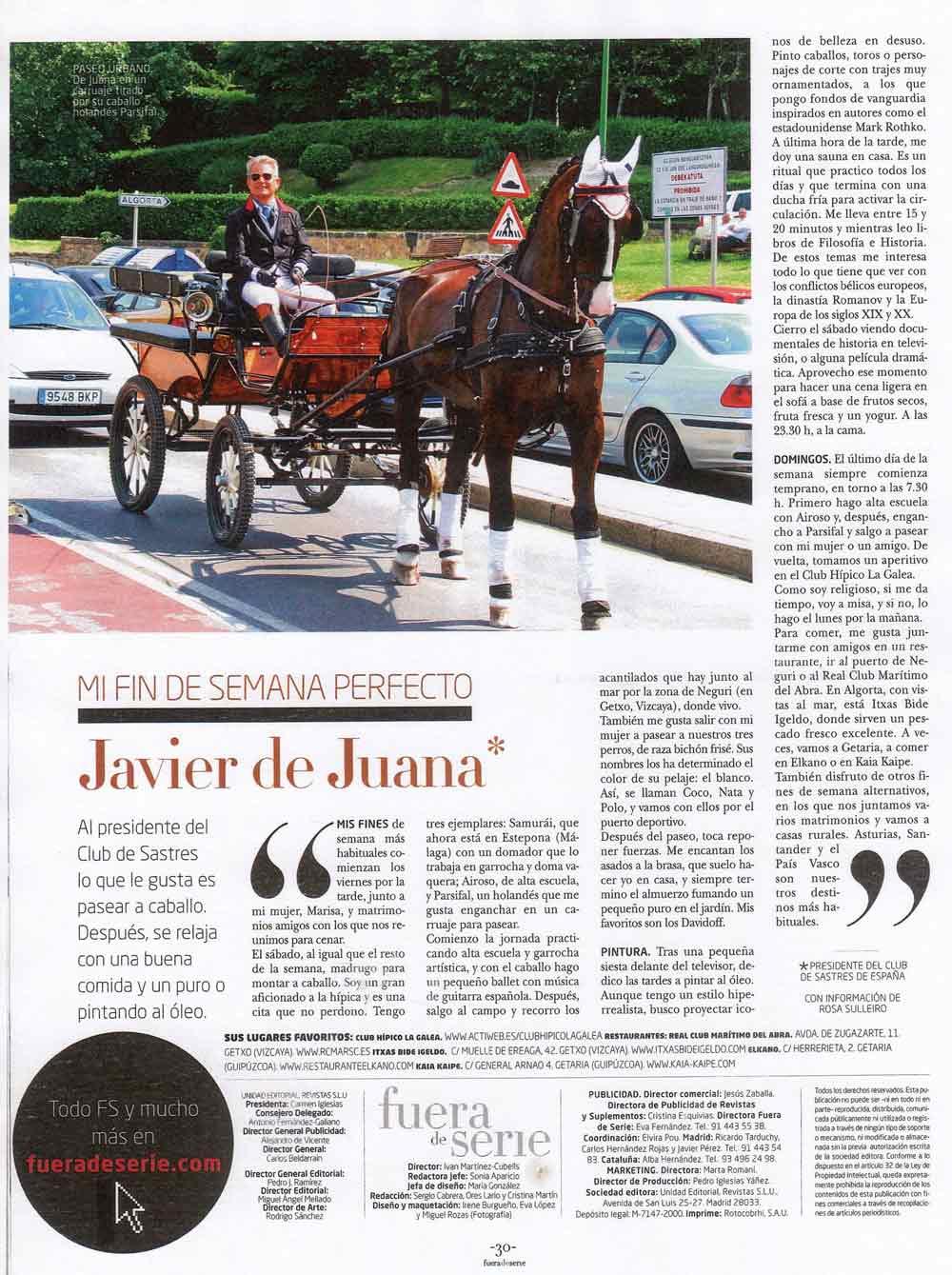 Reportaje Fuera de Serie - Expansión - Javier de Juana